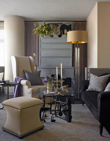 Colour inspiration from artist james mclaughlin way sabi for Neutral gray living room