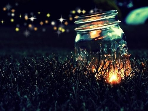Candle in a mason jar