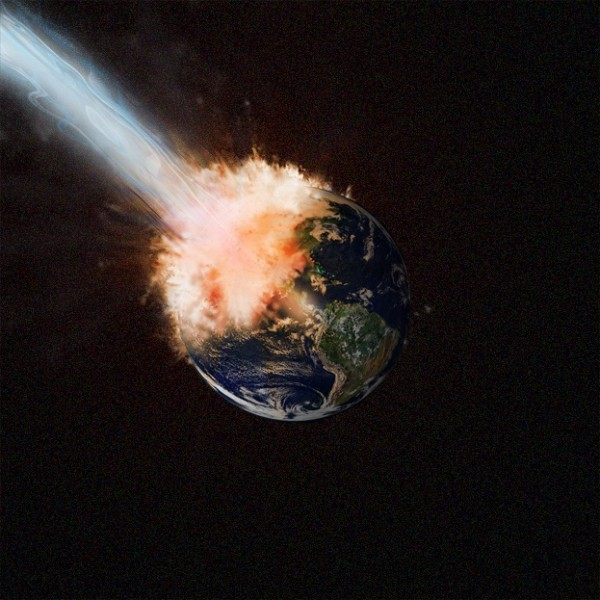 Exploding Earth (image from Okomakiako on DeviantArt)