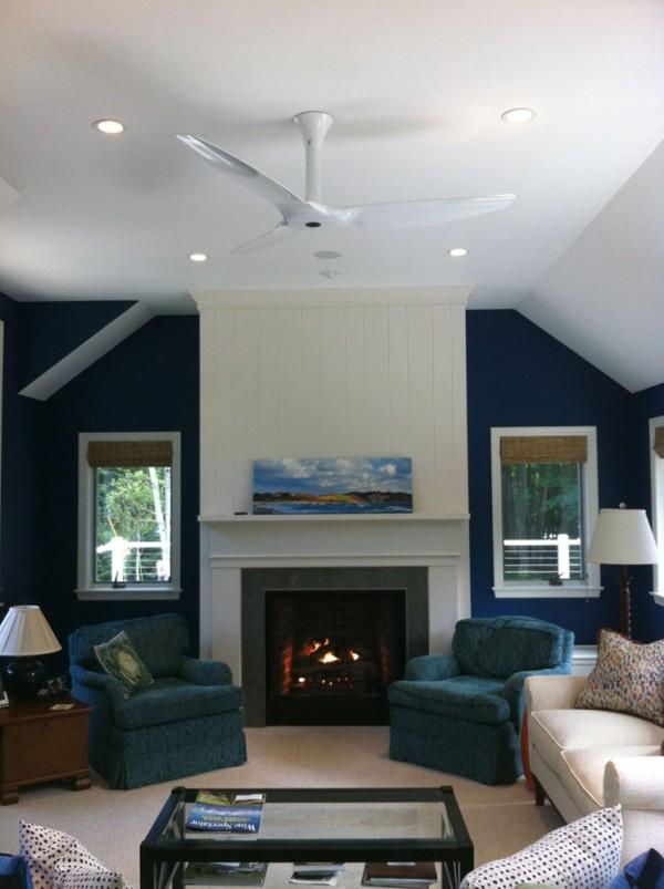 white composite haiku fan in formal living room image by haiku fans