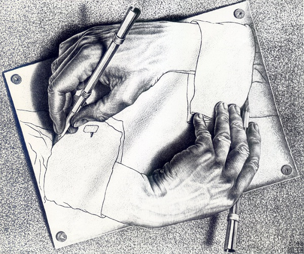 Hands by M.C. Escher