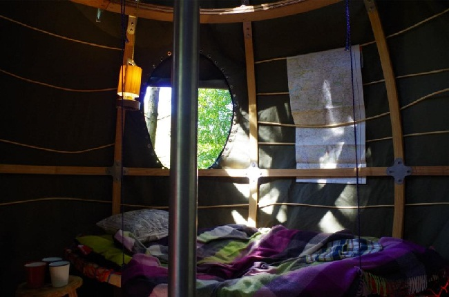 Tree Tent interior space (image by Luminair)