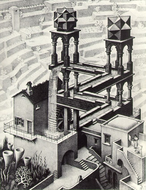 Waterfall by M.C. Escher