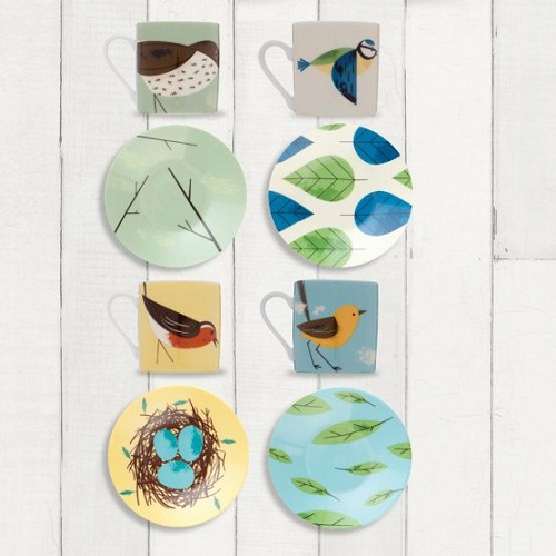 Birdie Espresso Cups and Saucers (image from Magpie Design Studio)