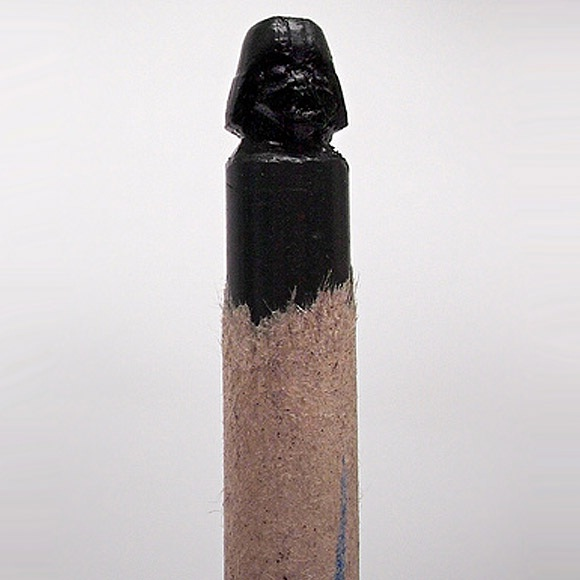 Darth Vader hand carved crayon (image by Steve Thompson)