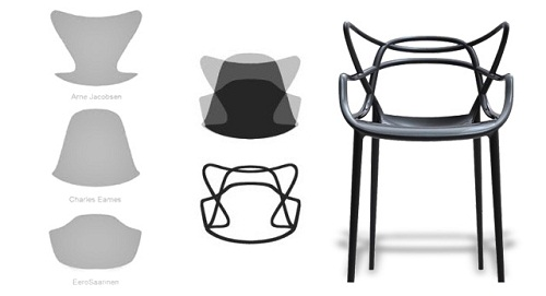 Concept of the design of the Masters Chair (image by Kartell)