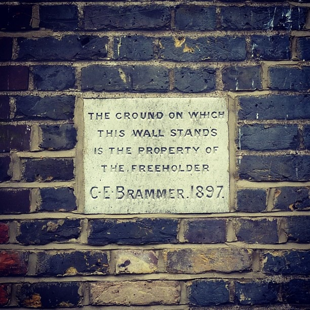 """Seeing this sign from 1897 I can't help but ponder who was """"C.E. Brammer""""?"""