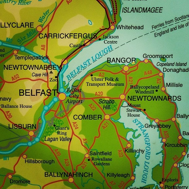 Map of Belfast and surrounding area (image by Sabi Style)