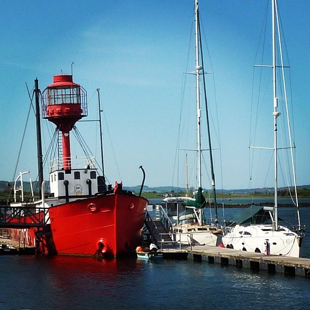 The lightship Petrel built in 1913 now retired she serves as the clubhouse for the Down Cruising Club at Ballydorn on Strangford Lough (image by Sabi Style)