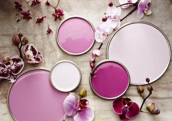 paint in Radiant Orchid tones by Benjamin Moore & Co (image from Benjamin Moore & Co)