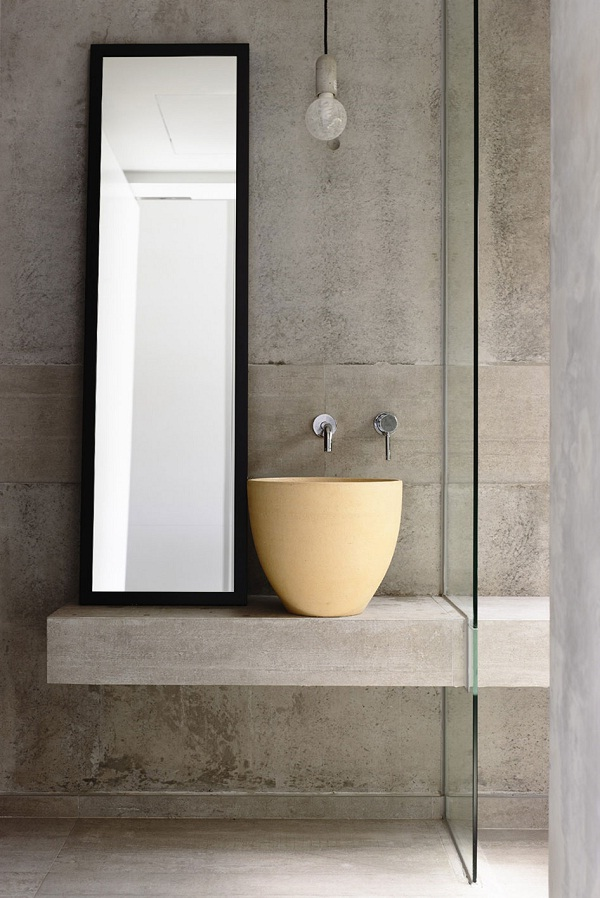 bathroom vanity and sink (designed by Hyla Architects and photo by Derek Swalwell)