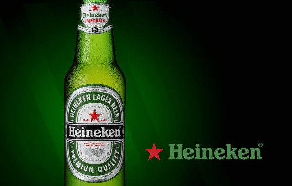 Heineken beer bottle by Tristan Townley