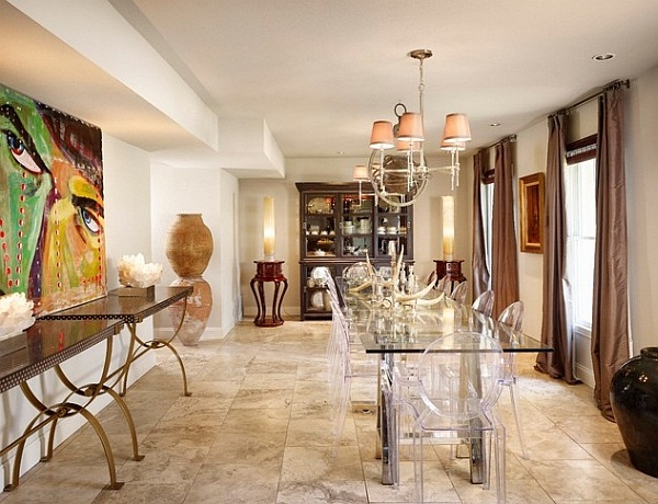 elegant dining space by Laird Jackson Design Home (image by same)