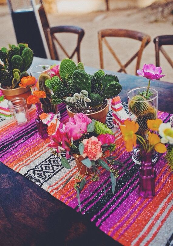 Cinco De Mayo themed table setting (image from Pinterest)